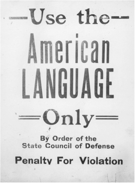 Use the American Language Only propaganda
